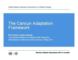 The Cancun Adaptation Framework