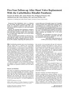 The CarboMedics prosthetic heart valve (CarboMedics