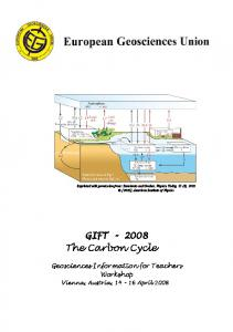 The Carbon Cycle GIFT Geosciences Information for Teachers Workshop