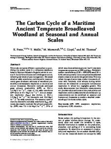 The Carbon Cycle of a Maritime Ancient Temperate Broadleaved Woodland at Seasonal and Annual Scales
