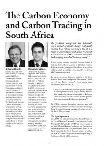 The Carbon Economy and Carbon Trading in South Africa