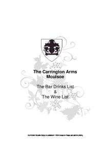 The Carrington Arms Moulsoe