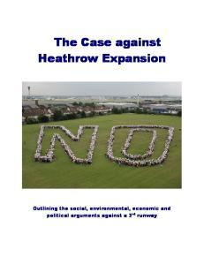 The Case against Heathrow Expansion
