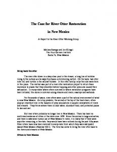 The Case for River Otter Restoration. in New Mexico