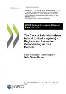 The Case of Ireland-Northern Ireland (United Kingdom) Regions and Innovation: Collaborating Across Borders