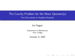 The Cauchy Problem for the Wave Operator(s)