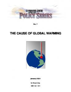 THE CAUSE OF GLOBAL WARMING