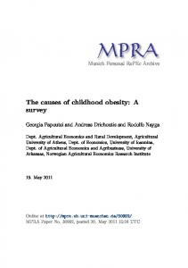 The causes of childhood obesity: A survey