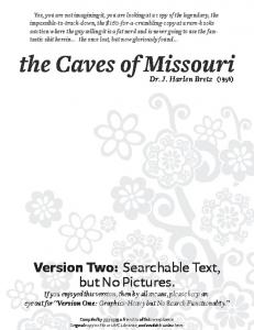the Caves of Missouri