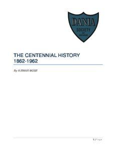 THE CENTENNIAL HISTORY