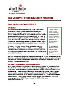 The Center for Urban Education Ministries
