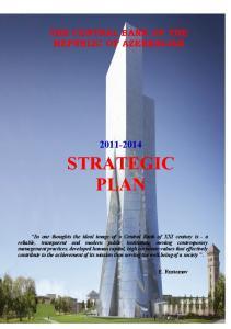 THE CENTRAL BANK OF THE REPUBLIC OF AZERBAIJAN STRATEGIC PLAN