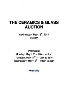 THE CERAMICS & GLASS AUCTION