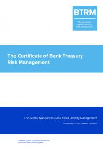 The Certificate of Bank Treasury Risk Management