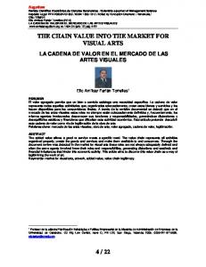 THE CHAIN VALUE INTO THE MARKET FOR VISUAL ARTS