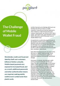 The Challenge of Mobile Wallet Fraud