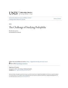 The Challenge of Studying Pedophilia