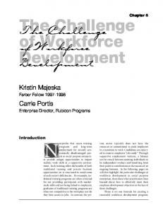 The Challenge of Workforce Development