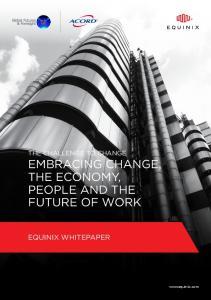 The Challenge to Change Embracing Change, The Economy,