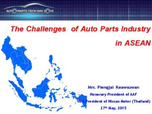 The Challenges of Auto Parts Industry in ASEAN