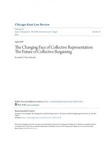 The Changing Face of Collective Representation: The Future of Collective Bargaining