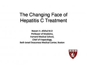 The Changing Face of Hepatitis C Treatment