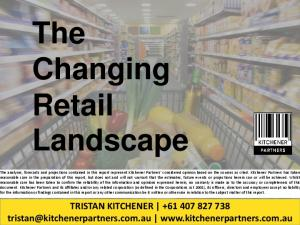 The Changing Retail Landscape