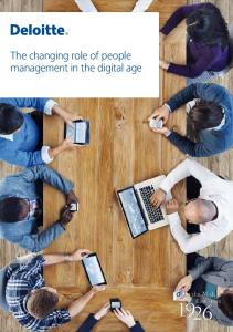 The changing role of people management in the digital age