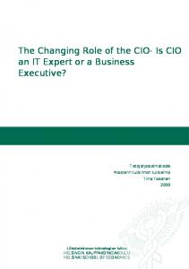 The Changing Role of the CIO- Is CIO an IT Expert or a Business Executive?