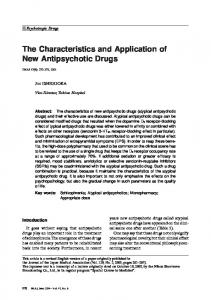 The Characteristics and Application of New Antipsychotic Drugs