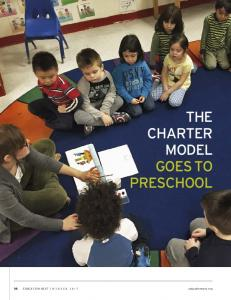 THE CHARTER MODEL GOES TO PRESCHOOL