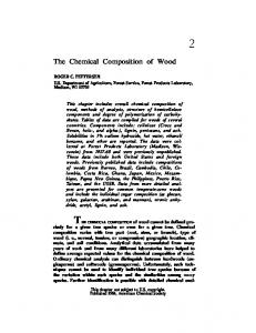 The Chemical Composition of Wood. ROGER C. PETTERSEN U.S. Department of Agriculture, Forest Service, Forest Products Laboratory, Madison, WI 53705