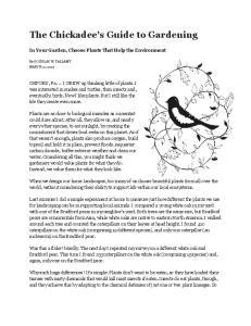 The Chickadee s Guide to Gardening