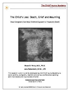 The Child s Loss: Death, Grief and Mourning