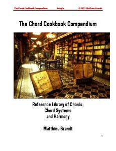 The Chord Cookbook Compendium