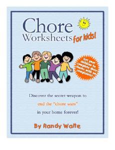 THE CHORE WORKSHEET PACKAGE