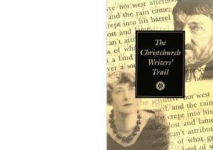 The Christch~rch Writers' Trail