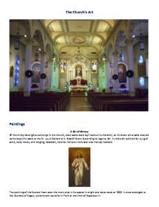 The Church's Art. Paintings