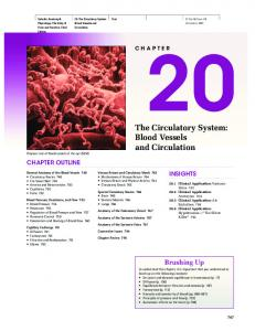The Circulatory System: Blood Vessels and Circulation