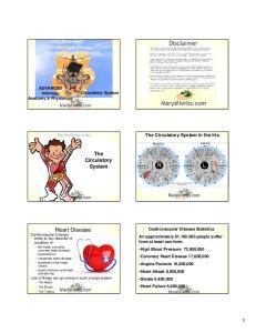 The Circulatory System. The Circulatory System in the Iris. ADVANCED Iridology Anatomy & Physiology. Circulatory System