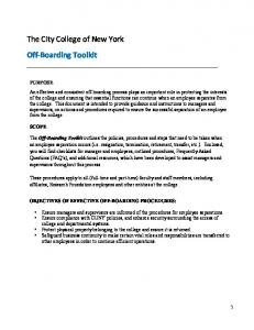 The City College of New York Off Boarding Toolkit