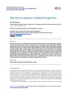The City in Cinema: A Global Perspective