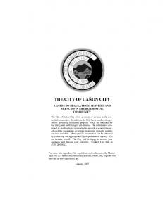 THE CITY OF CAÑON CITY
