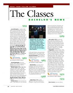 The Classes. 45 th Reunion