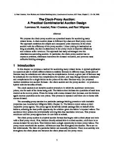 The Clock-Proxy Auction: A Practical Combinatorial Auction Design