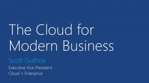 The Cloud for Modern Business