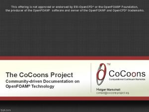 The CoCoons Project Community-driven Documentation on OpenFOAM Technology