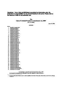 The Code of Criminal Procedure (Amendment) Act,