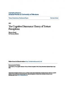 The Cognitive Dissonance Theory of Torture Perceptions