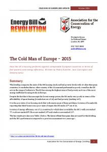 The Cold Man of Europe 2015